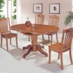 Деревянный круглый стол – изюминка вашего кухонного интерьера
